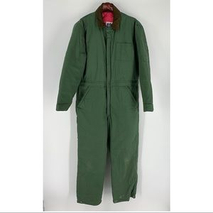 Weather Breaker Green Insulated Coveralls Men's L